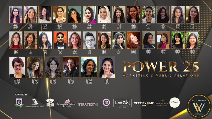 Hoteliers Web announced the Power 25 Marketing & PR for 2021